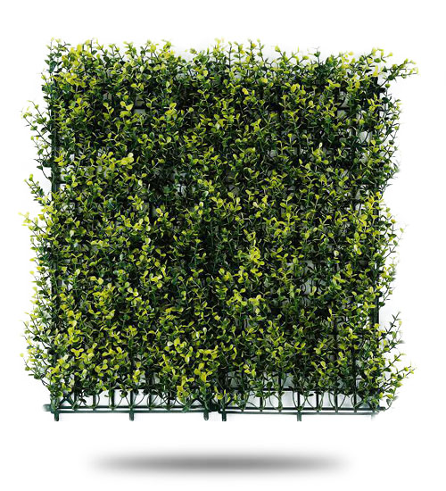 Muro Verde Artificial Boxus Arrayan Amarillo Largo