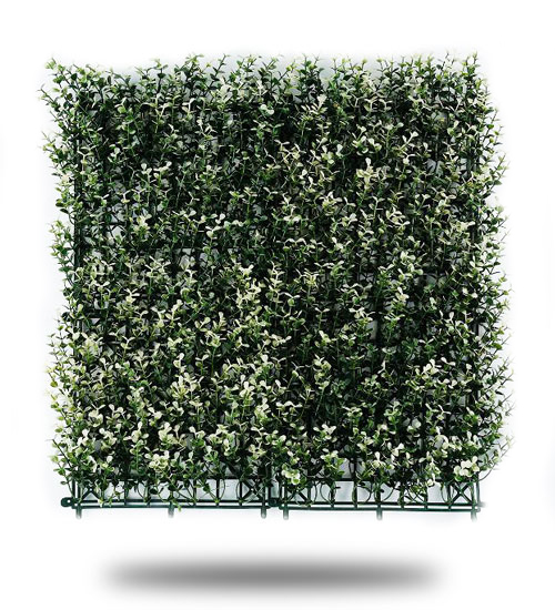 Muro Verde Artificial Boxus Arrayan Blanco Largo